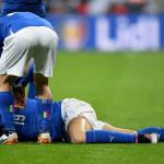 إصابة مدافع يوفنتوس مع منتخب إيطاليا تربك حسابات بيرلو و مانشيني