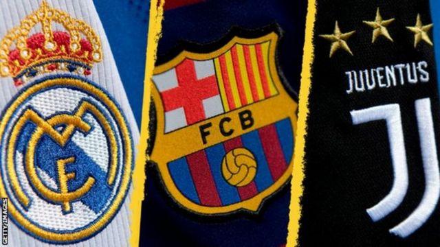 """بيان ثلاثي مُشترك """"ريال مدريد ويوفنتوس وبرشلونة"""" لـ يويفا: """"إما أن نجدد كرة القدم، أو نشهد هلاكها الحتمي"""""""