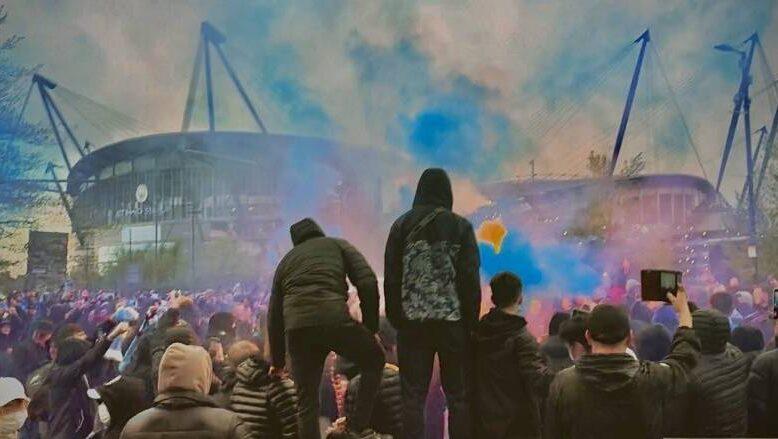 اشتباكات بين جماهير مانشستر سيتي وتشلسي قبل نهائي دوري الأبطال