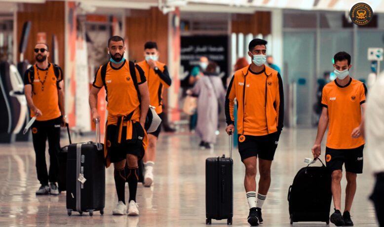بعثة نهضة بركان تصل الدوحة تأهبا لنهائي السوبر