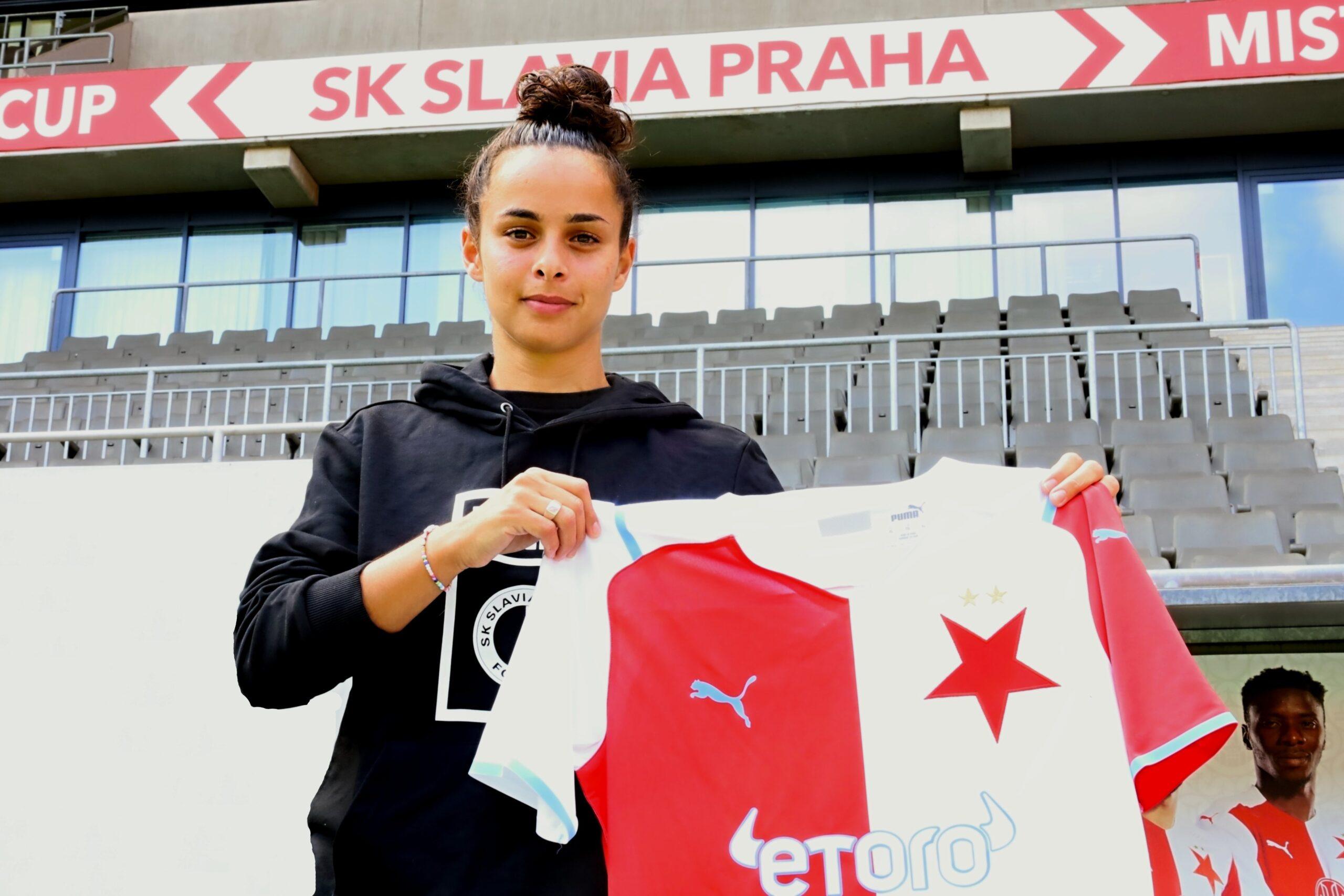 لاعبة نسور قرطاج شيرين اللمطي تمضي مع سلافيا براغ التشيكي