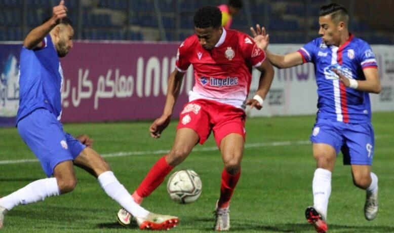 الكعبي يفتتح أهداف قمة الوداد والمغرب التطواني في نصف نهائي الكأس