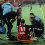 لاعب الأهلي وليد سليمان يخضع لفحوصات بأحد المستشفيات بعد إصابته امام بطل النيجر