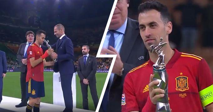 بوسكيتس أفضل لاعب في دوري الأمم الأوروبية